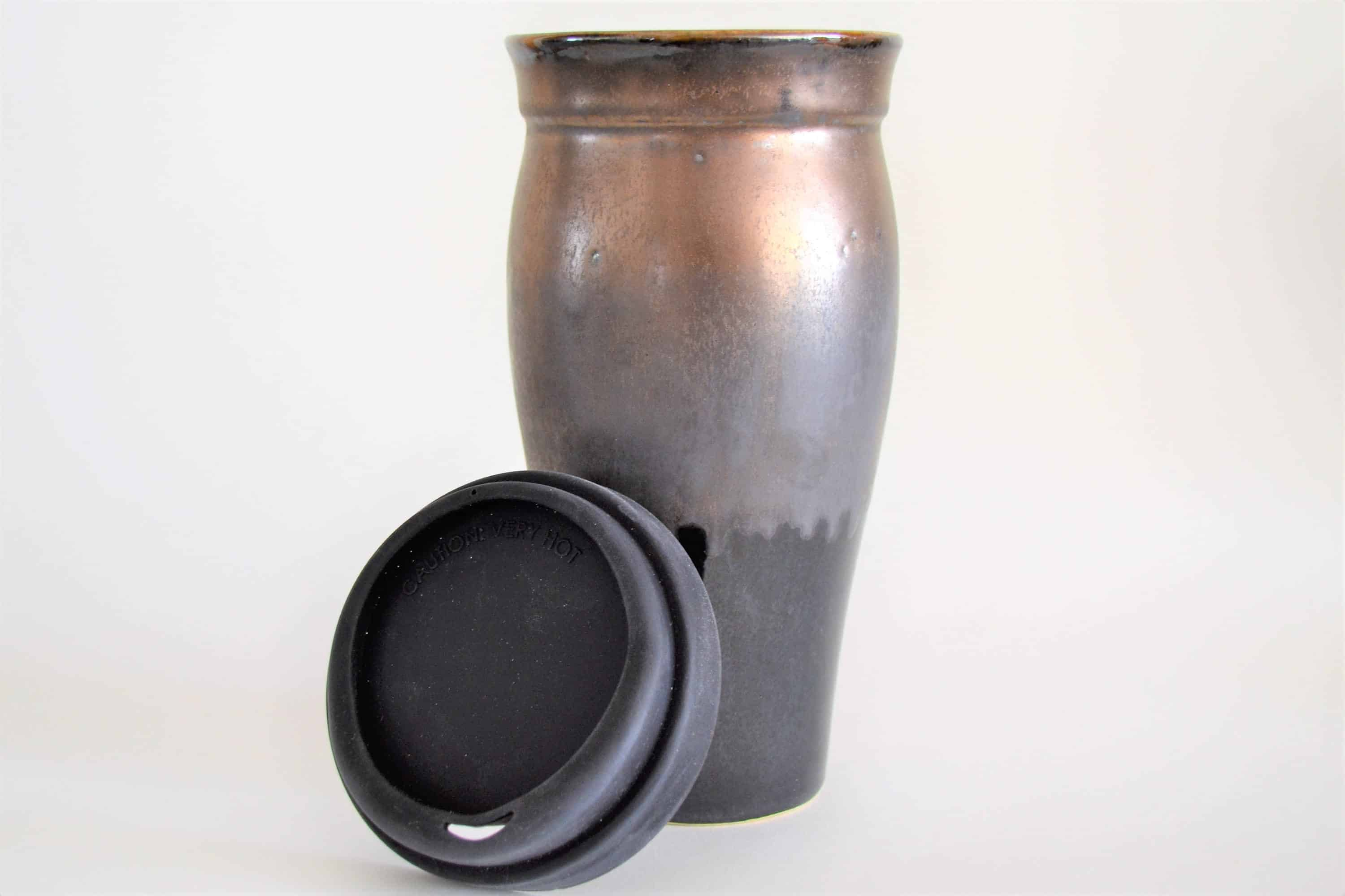 Bronze Pottery Travel Mug