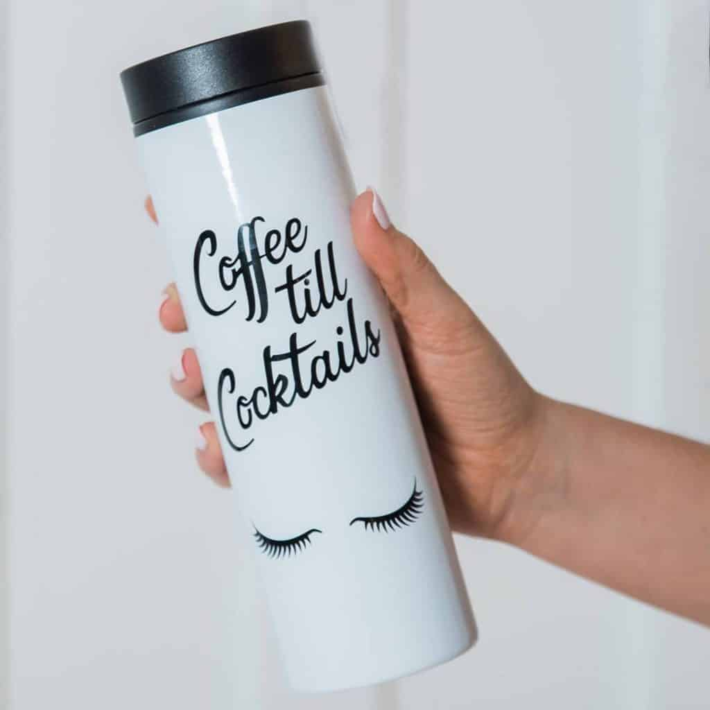 Coffee Til Cocktails Travel Mug