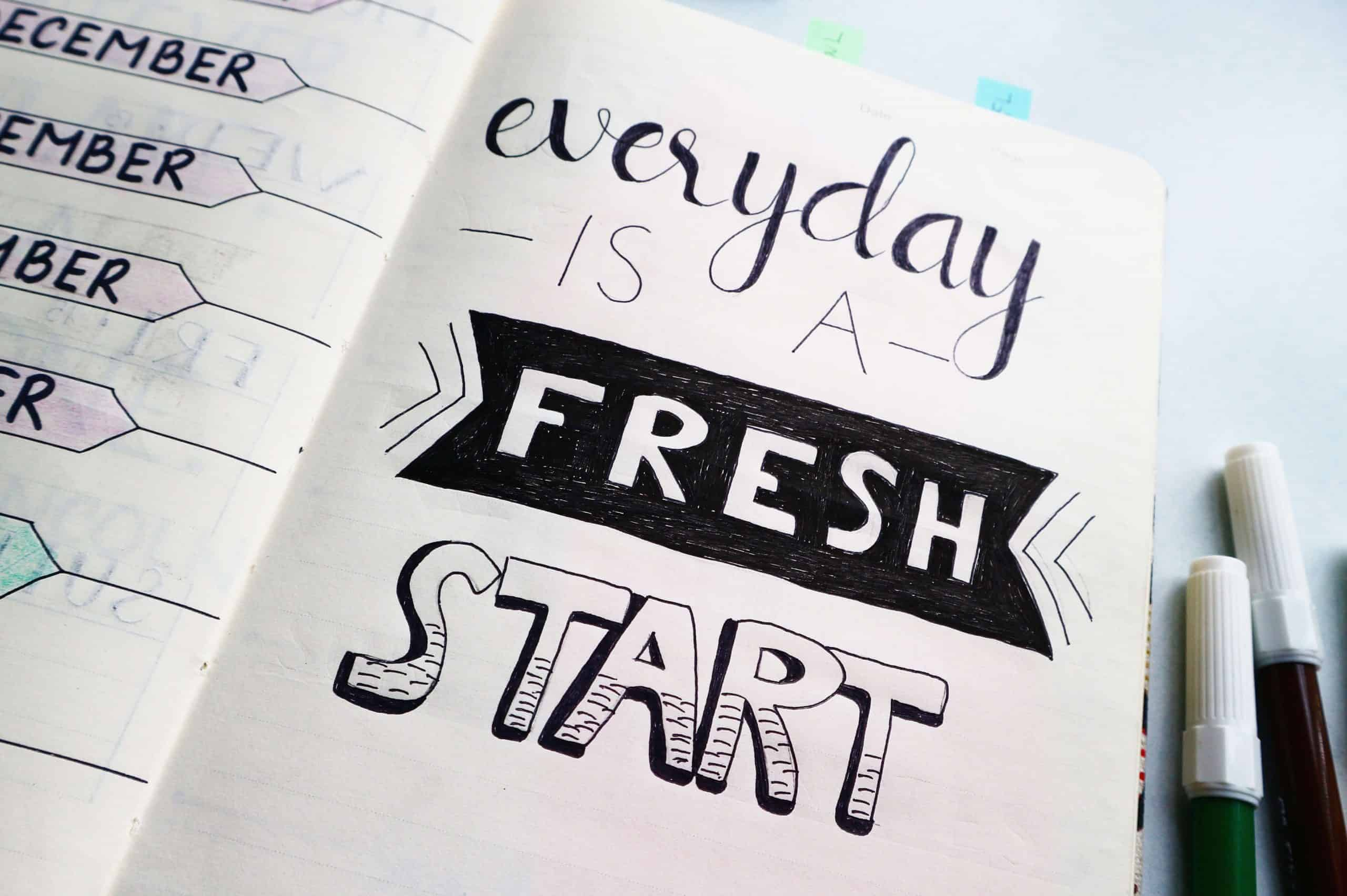 Five Year Goals - Every Day Is a Fresh Start