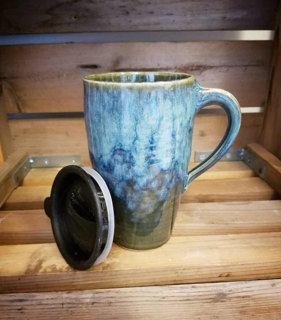 Handmade Pottery Travel Mug