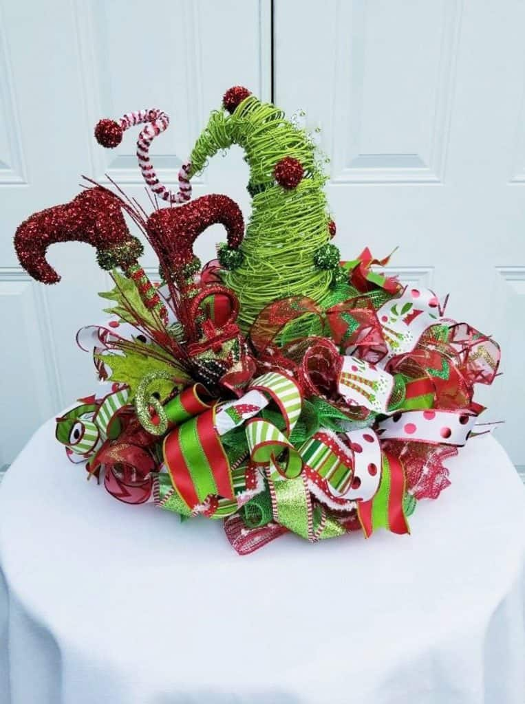 Holiday Centerpiece Whimsical Christmas Elf