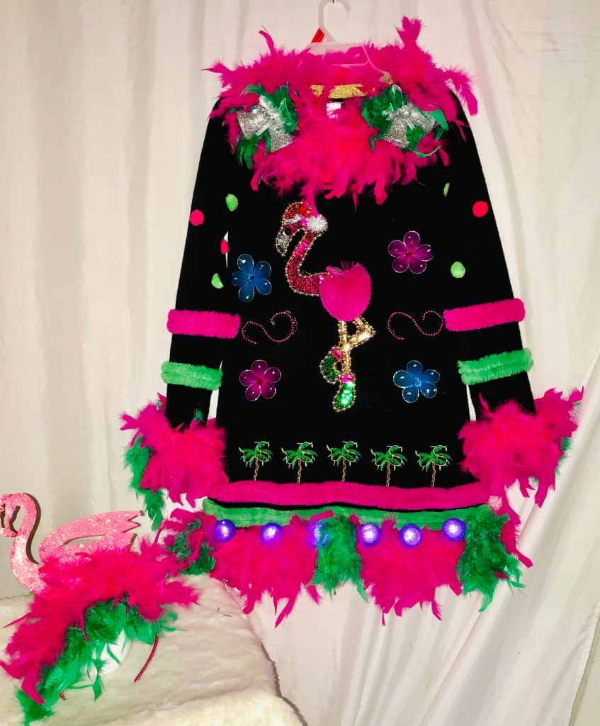 Pink Flamingo Ugly Christmas Sweater on Etsy