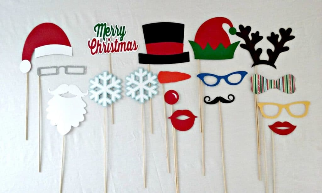Ugly Christmas Sweater Photo Booth Props