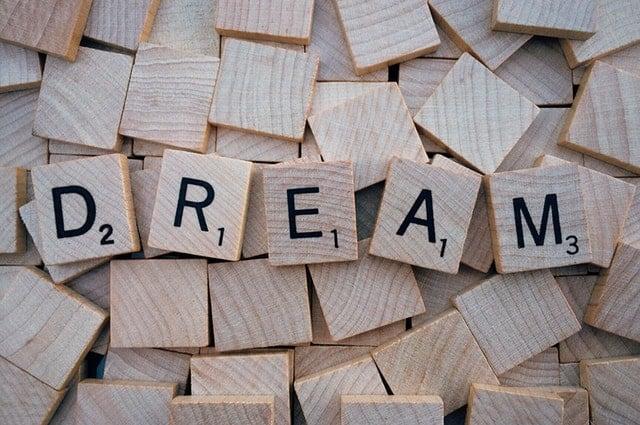 Create a Vision Board Dream Scrabble Tiles